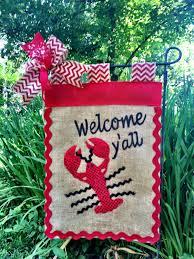 Decorative Garden Flags Crawfish Garden Flag Mardi Gras Flags 4th Of July Flag