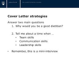 dietitian cover letter dietetics resume workshop