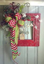 vintage frame for door or wall hanging with chevron