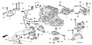 2010 honda accord parts honda accord 2 door ex l ka 5mt engine mounts l4