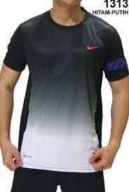 Baju Nike kaos olahraga nike 1313 hitam putih rumah jersey