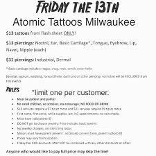 atomic tattoos side milwaukee studio 414 445 7777 home