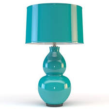 Teal Table Lamp Shade Of Light Pop Color Modern Ceramic Table Lamp 3d Model Max