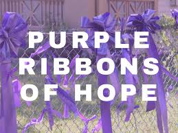 purple ribbons purple ribbons of event wesley united methodist church