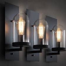 Contemporary Wall Sconces Clear Glass Wall Sconce Foter