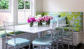 Green Table L Lime Green Vinyl Banquette Cushions With Rectangular Tulip Dining