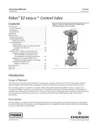 fisher ez control valve instruction manual valve electrical