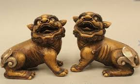 lion dog statue online shop 5 lucky dynasty palace bronze silver foo dogs
