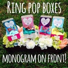 personalized ring pops sale personalized ring pop box with monogram on front label