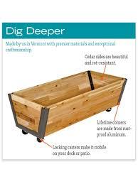 Flag Box Plans Rolling Planter Box U Garden Bed On Wheels Gardeners Com