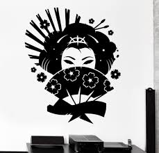 online buy wholesale wall murals japan from china wall murals big size wall decal geisha japan oriental woman fan girl decor vinyl stickers lover s bedroom wall