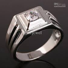 diamond ring for men design 2018 new design white topaz rhodium finish men s real sterling