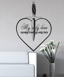 vinyl wall decal sticker my only love quote 5380