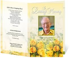 sle of funeral programs 9 best projects to try images on program template