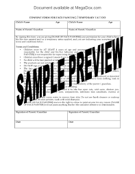face painting consent and release forms legal forms and business