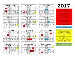 artisan childcare calendar