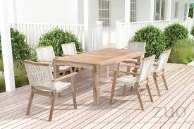 White Wash Table And Chairs White Weave Outdoor Dining Chair With White Washed Teak Frame