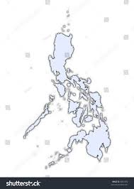 philippines light blue map shadow high stock illustration 8847292