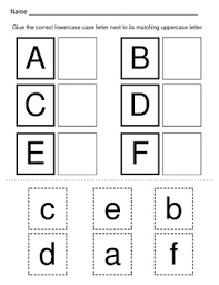 matching upper and lowercase letters worksheets free worksheets