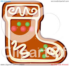 clipart of a stocking gingerbread christmas cookie royalty free
