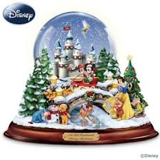 mickey mouse minnie mouse snowglobes water globes disney
