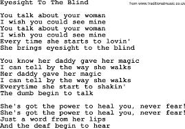 Blind Chords Eyesight To The Blind By The Byrds Lyrics With Pdf