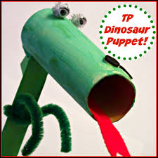crafts for kids toilet paper roll dinosaur puppet