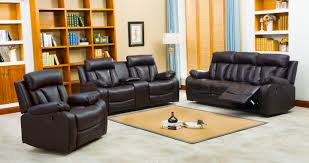 Loveseat With Recliner Naples Reclining Sofa U0026 Loveseat W Cupholders And Console Set