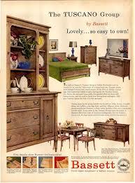Home Decor Ads Vintage Bassett Furniture Ad 1957 Vintage Furniture Ads
