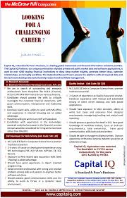 Best Resume For Kpo by Jobs In Capital Iq Vacancies In Capital Iq Opportunities At