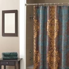 Brown And Gold Shower Curtains Brown Fabric Shower Curtain Foter