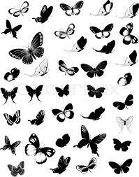 set of butterflies stock vector colourbox