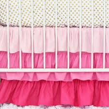 Pink And Gold Nursery Bedding Pink And Gold Dot Ruffle Crib Bedding Set By Caden Lane
