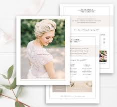 wedding photographer price list template set pricing guide