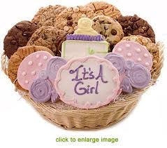 cookie gift basket celebrate baby girl cookie gift basket