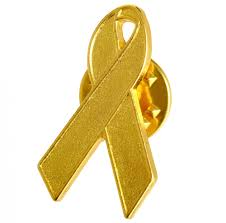 gold ribbon kids gold ribbon pin badge cancer research uk online shop