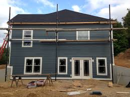 left side of house lp smart siding in sherwin williams grays