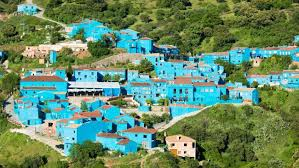 smurfs banned spanish village juzcar painted blue