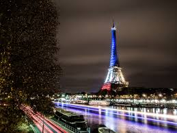 French Flag Eiffel Tower File The Eiffel Tower Lit In Blue White Red Fluctuat Nec