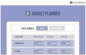 wedding budget planner wedding budget calculator free planner tool