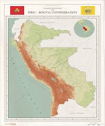 Map Of Chile South America by Map Of The Short Lived Peru Bolivian Confederation Lasting Only