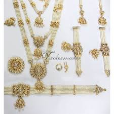pearl and white indian bridal jewelry kathak