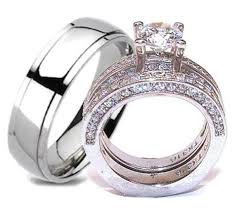 his and hers wedding ring sets his hers wedding ring set stainless steel titanium wedding