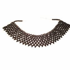 black seed bead necklace images Victorian seed bead necklace black beaded lace necklace viya crafts jpg