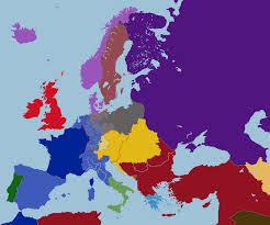 Map Of Europe 1939 by Map Of Consulate Europe Ca 1860 By Tiltschmaster On Deviantart