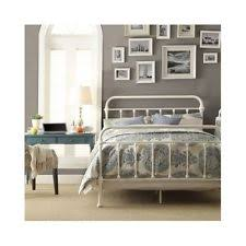 country style beds ikea leirvik bed frame white queen size iron metal country style ebay
