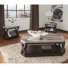 Ashley Furniture End Tables Ashley Furniture Radilyn 3 Piece Wood Coffee Table Set Jet Com