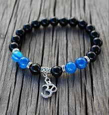 blue bracelet images Bracelet mala blue om jpg