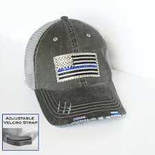 thin blue line police wife gift for her distressed trucker