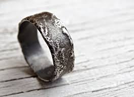silver wedding bands buy a crafted unique silver ring molten surface cool mens
